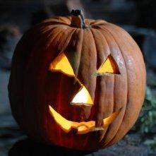 Un'immagine della famosa zucca di Halloween dall'horror Hatchet