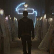 Live action tease image di Tron Legacy: Sam Flynn (Garrett Hedlund) indaga sulla scomparsa del padre al Flynn
