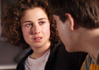 Nina Torresi in una scena del film La strategia degli affetti