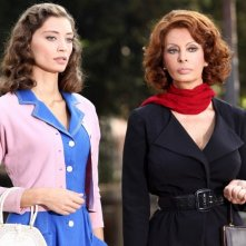 Sophia Loren e Margareth Madè nella fiction La mia casa è piena di specchi