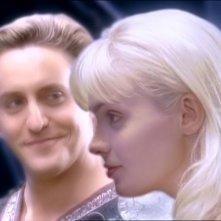 Charles Mesure & Hudson Leick in una scena del telefilm Xena nell'episodio Fallen angel