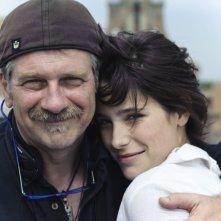 Martina Codecasa e il regista Alessandro D'Alatri sul set del film Sul mare