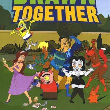 Un poster della serie animata Drawn Together
