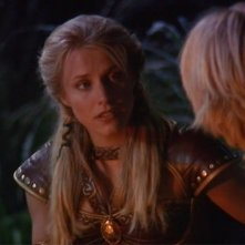 "Xena: Brittney Powell in una scena dell\'episodio ""The Rheingold\"""