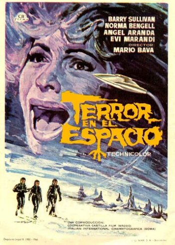 Locandina spagnola del film Terrore nello spazio (1965)