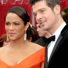 Paula Patton e Robin Thicke sul Red Carpet degli Oscar 2010