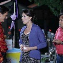 Veronica Mazza con Eduardo Tartaglia e Biagio Izzo nella commedia La valigia sul letto