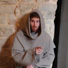 Adriano Braidotti sul set del film dedicato a Duns Scoto.