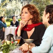 Sophia Loren in un momento della fiction La mia casa è piena di specchi