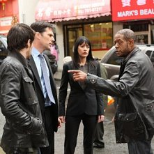 La guest star Forest Whitaker con Thomas Gibson e Paget Brewster nell'episodio The Fight di Criminal Minds