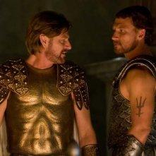 Lo scontro tra Zeus (Sean Bean) e Poseidone (Kevin McKidd) nel film Percy Jackson e gli dei dell'Olimpo: Il ladro di fulmini