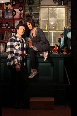 Andrea Bosca e Diane Fleri sul set del film Febbre di fieno