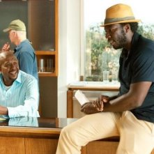 Forest Whitaker e il regista Rick Famuyiwa sul set di Our Family Wedding