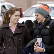 L'attrice Amy Adams e la regista Christine Jeffs sul set del film Sunshine Cleaning