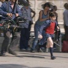 Maxime Godart sul set de Il piccolo Nicolas e i suoi genitori