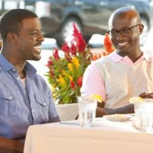 Taye Diggs e Lance Gross in una scena della commedia Our Family Wedding