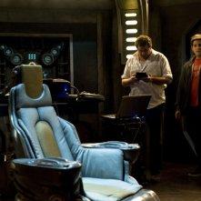 Una sequenza dell'episodio Justice di Stargate Universe con Mark Burgess e David Blue