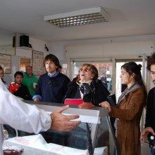 Durante le prove di \'Come si deve\': Davide Minnella, Piera Degli Esposti, Diane Fleri e Federico Annicchiarico