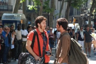 Nicolas Vaporidis con Alessandro Roja nella commediaTutto l'amore del mondo