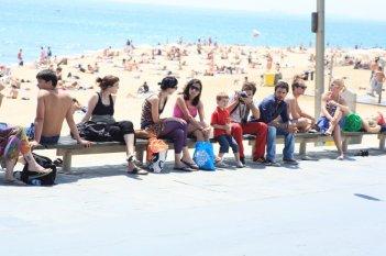 Un'immagine di Barcellona dal film Tutto l'amore del mondo con Nicolas Vaporidis e Alessandro Roja