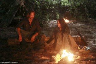 Josh Holloway ed Evangeline Lilly nell'episodio Recon di Lost