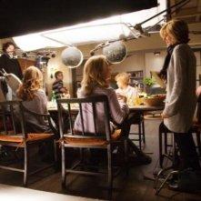 Un'immagine dal set del film E' complicato, diretto da Nancy Meyers