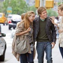 Zoe Kazan, Hunter Parrish e Caitlin Fitzgerald nel film E' complicato