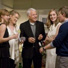 Zoe Kazan, Meryl Streep, Steve Martin, Hunter Parrish e Caitlin Fitzgerald nel film E' complicato