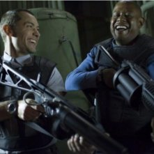 Jude Law e Forest Whitaker in una scena del film Repo Men