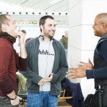 Jude Law, Forest Whitaker  e il regista Miguel Sapochnik sul set del film Repo Men