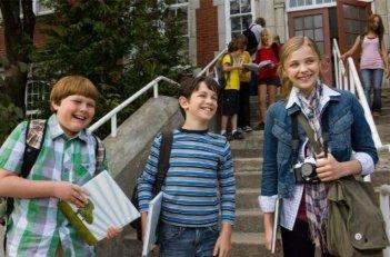 Zachary Gordon, Robert Capron e Chloe Moretz in un'immagine di Diary of a Wimpy Kid con