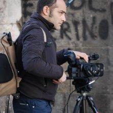 Marcello Sannino sul set di Corde.