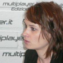 Fantasy Horror Award 2010: l'attrice Kristina Klebe fa visita allo stand di Movieplayer.