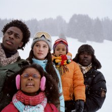 Jimmy Woha, Astrid Berges-Frisbey, Ludovic François, Lucien Jean-Baptiste e Loreyna Colombo in una scena del film La première étoile