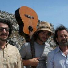 Max Gazzè, Paolo Briguglia, Rocco Papaleo e Alessandro Gassman sul set di Basilicata Coast to Coast