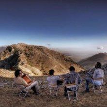 Una scena di Basilicata Coast to Coast con Rocco Papaleo, Paolo Briguglia, Alessandro Gassman e Max Gazzè