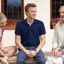 Christopher Egan, Amanda Seyfried e Vanessa Redgrave in una sequenza del film Letters to Juliet