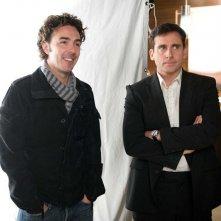 Il regista Shawn Levy e l'attore Steve Carell sel set della commedia Date Night