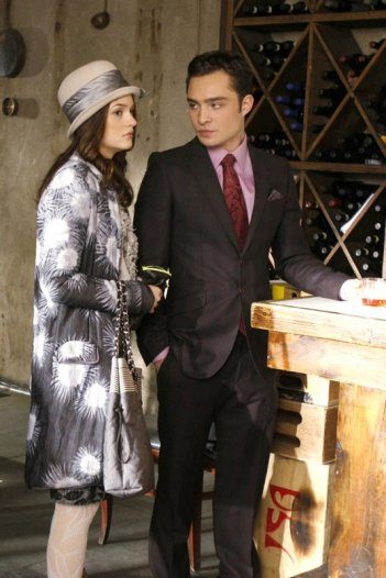 Leighton Meester ed Ed Westwick nell'episodio The Empire Strikes Jack  di Gossip Girl