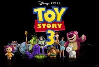 Teaser promozionale dei protagonisti di Toy Story 3 con Sparks, Trixie, Twitch, Buzz, Woody, Ken, Lotso, Stretch, Peas, Mr. Princklepants e Cono di Panna