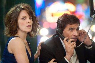 Tina Fey e Steve Carell piuttosto sconvolti in una scena del film Date Night