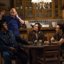 Craig Robinson, Rob Corddry, Clark Duke e John Cusack in una scena di Hot Tub Time Machine