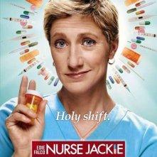 Un poster della stagione 2 di Nurse Jackie