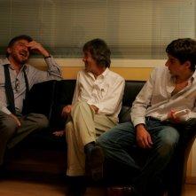 Gigi Proietti, il regista Carlo Vanzina e Carlo Fabiano sul set de La vita è una cosa meravigliosa