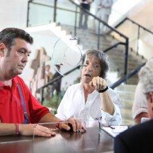 Il regista Carlo Vanzina e Rodolfo Laganà sul set de La vita è una cosa meravigliosa
