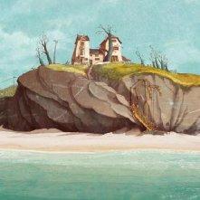 Un'immagine del paesaggio tra cielo e mare nel film Nat e il segreto di Eleonora