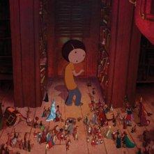 Un'immagine di Nat nel favoloso mondo dei libri dal film Nat e il segreto di Eleonora