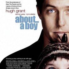 Una locandina del film About a Boy, con Hugh Grant.