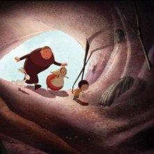 Una sequenza del film d'animazione Nat e il segreto di Eleonora
