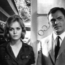 John Saxon e Letícia Román in una sequenza del film La ragazza che sapeva troppo